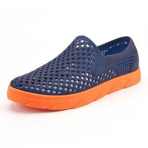 Image 1 - Summer Beach Sandals Men Shoes Breathable Aqua Shoes River Sea Slippers Men Outdoor Flip Flops Barefoot Shoes zapatos hombre