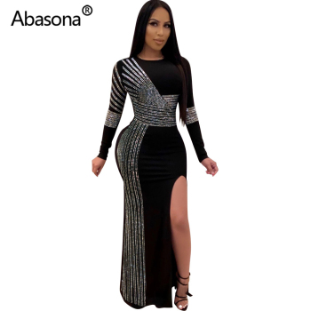 2020 Women Summer Long Bodycon Dress Hot Drilling Crystal Diamonds Rhinestone Sexy Club Party Night Bandage Maxi Dress Plus Size 2