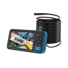 5.5 Mm Dual Lens Inspection Camera, 4.5 Inch 1080P IPS Screen Endoscope,IP67 Waterproof Tube Industrial Borescope with 5M Line