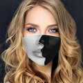 Забавная дизайнерская маска для женщин, хлопковая маска с креативным принтом, регулируемая бандажная дышащая Тканевая маска, Пылезащитная ...