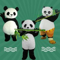 Panda Mascot Costume Cosplay Party Game Dress Outfit Advertising Halloween Adult Carnival Cartoon Character Mascot Costume Gift