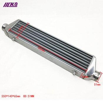 Front Mount intercooler 550*140*65mm Universal Turbo Intercooler bar & plaat OD = 51mm RODIN