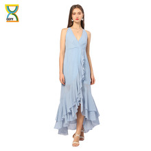 CGYY New Arrivals Long Summer Maxi Dresses Ladies 2021 Floral Blue V Neck Sexy Beach Dress Knittd Woman Bodycon Vestidos
