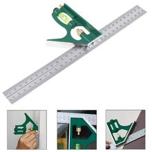 300mm Adjustable Combination Square Angle Ruler 45 / 90 Degree With Bubble Level Multifunctional Gauge Measuring Tools стоимость