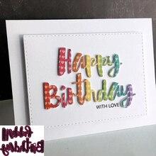 Metal Cutting Dies Diy Scrapbooking Happy-Birthday-Words Diecuts Stencil Crafts Embossing-Paper-Cards