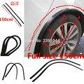 150 см колеса для бровей Арка Декоративная полоса углеродное волокно автомобильные шины для бровей для круглых резиновых автомобильных защи...