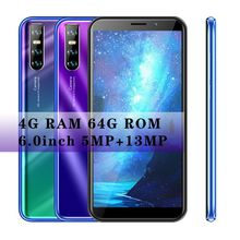 Smartphones 4GB RAM 64GB ROM M40 Quad Core 13MP 6 0inch Full Screen Face unlocked WiFi Mobile Phone Android Cellphones Celulares cheap BYLYND Detachable Face Recognition Up To 48 Hours 3000 Adaptive Fast Charge Smart Phones Capacitive Screen English Russian