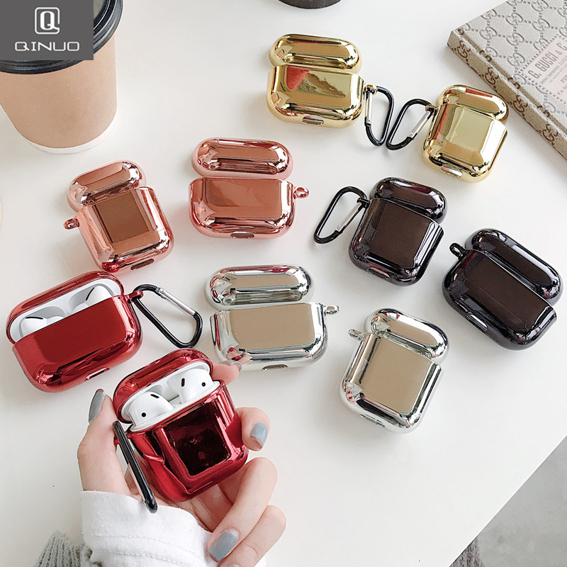 Electroplate Pc Plating Case For Airpods Pro Portable Earphone