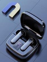 Led תצוגת TWS Bluetooth אוזניות עם מיקרופון מגע שליטה אלחוטי אוזניות אוזניות עמיד למים הפחתת רעש באוזן
