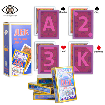 Marked playing cards,magic Russian bridge size playing cards for infrared contact lens, anti cheat poker, magic tricks decks secret marked poker cards see through playing cards magic toys poker magic tricks