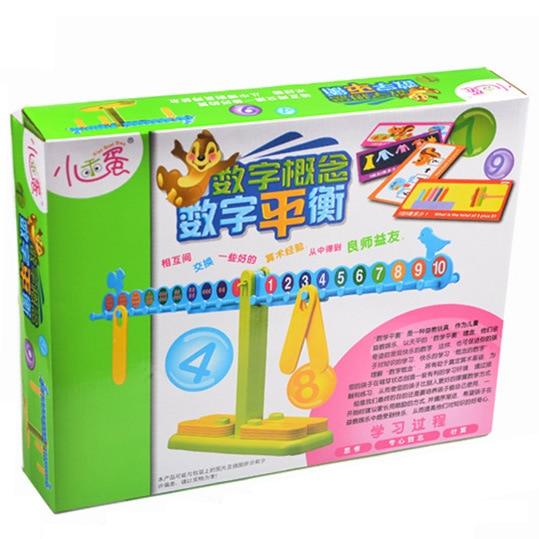 Bébé Balance numérique Balance mathématique jeu de bureau enseignement précoce jouet mathématique Instrument d'équilibre mathématique