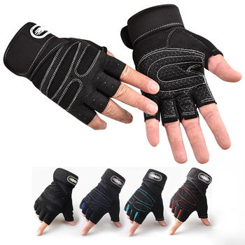 Heavyweight  Exercises Half Finger Weight Lifting Gloves Body Building Training Sport Gym Fitness Gloves For Men Women M/L/XL 1