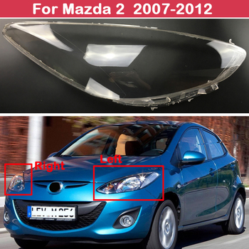 цена на Car Headlight Shell Lamp Shade Transparent Cover Headlight Glass Headlamp Lens Cover For Mazda 2 2007-2012