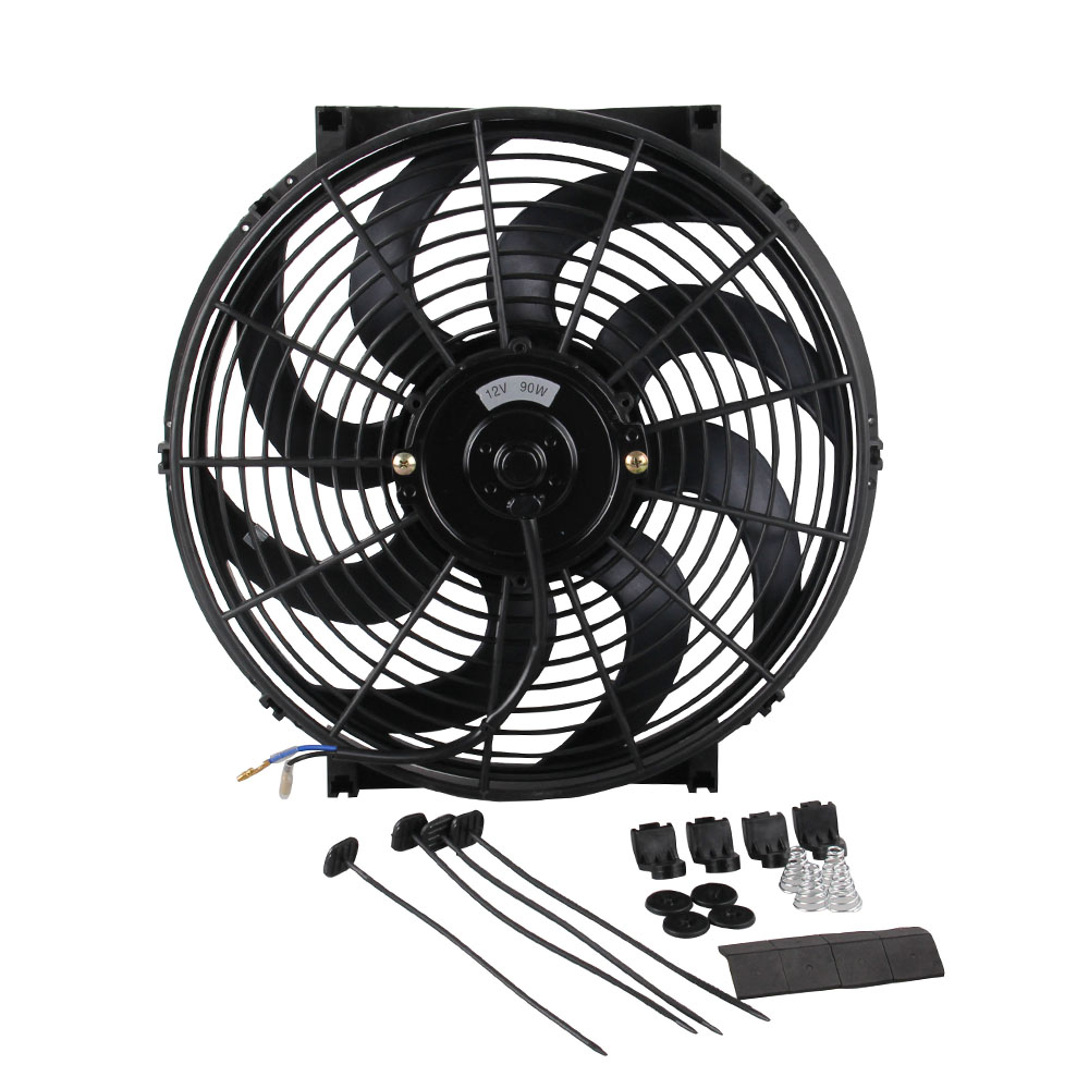 American Volt Single Electric Radiator Cooling Fan Zip Tie Strap Universal Complete Mounting Install Kit