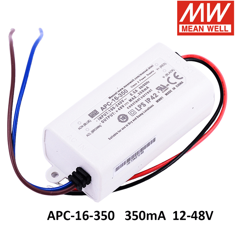 MEAN WELL,Switching Power Supply LED Driver;110V-220V AC-DC Single ...