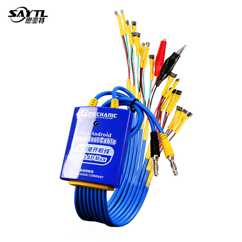 MECHANIC IBoot AD Max Power Boot Control Line For Android IOS Phone Test Power Supply Cable For Iphone Huawei Xiaomi Samsung