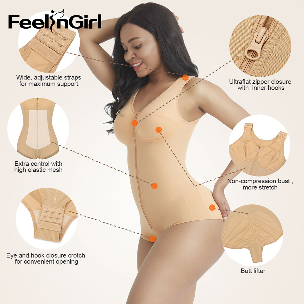 Front Buckle Ringle Room Shapewear with Waist