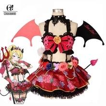 купить ROLECOS Lovelive Cosplay Costume Little Devil Love Live Cosplay All Characters Costume Kotori Honka Umi Nico Women Dress Cos дешево