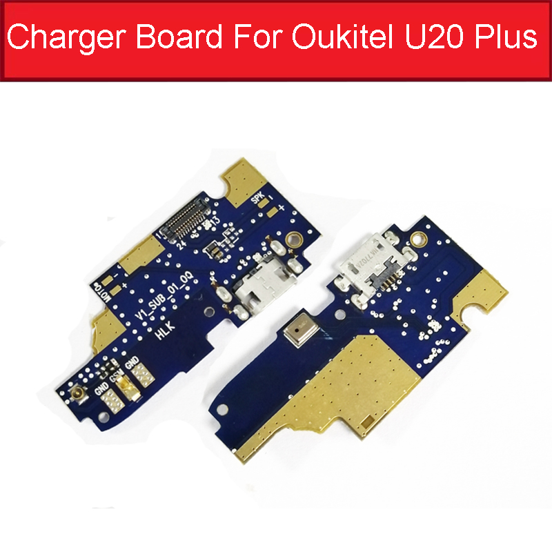 100% New Usb Charge Port Plug Board For Oukitel U20 Plus Charging USB Jack Dock Board Module Flex Cables Replacement Parts