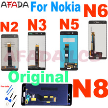 цена на Original For Nokia 3 N3 TA-1020 TA-1028 TA-1032 TA-1038 for Nokia 5 N5 6 N6 8 N8 LCD Display Touch Screen Digitizer Assembly