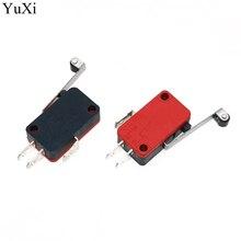 YuXi роликовый рычаг Micro Switch16A 125v AC/250VAC, кнопочный SPDT мгновенный фиксатор действия концевой переключатель путешествия