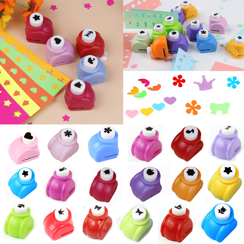 Mini Shape Craft Punch Accessories Small Embossing Machine Flowers Scrapbook DIY Hole Punches Scrapbooking Tools