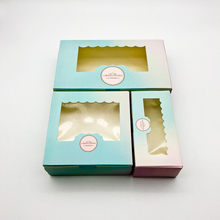 50 PCS Gift Box Wedding Candy Cookies Cup Cake Paper Packaging Window Boxes Party Favor Kids Supplies