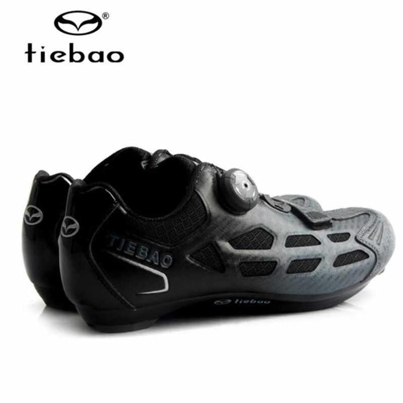 TIEBAO Road Ciclismo zapatos hombres Zapatillas agregar pedal set Pro equipo bicicleta goma transpirable desbloqueado bicicleta zapatos Zapatillas Ciclismo