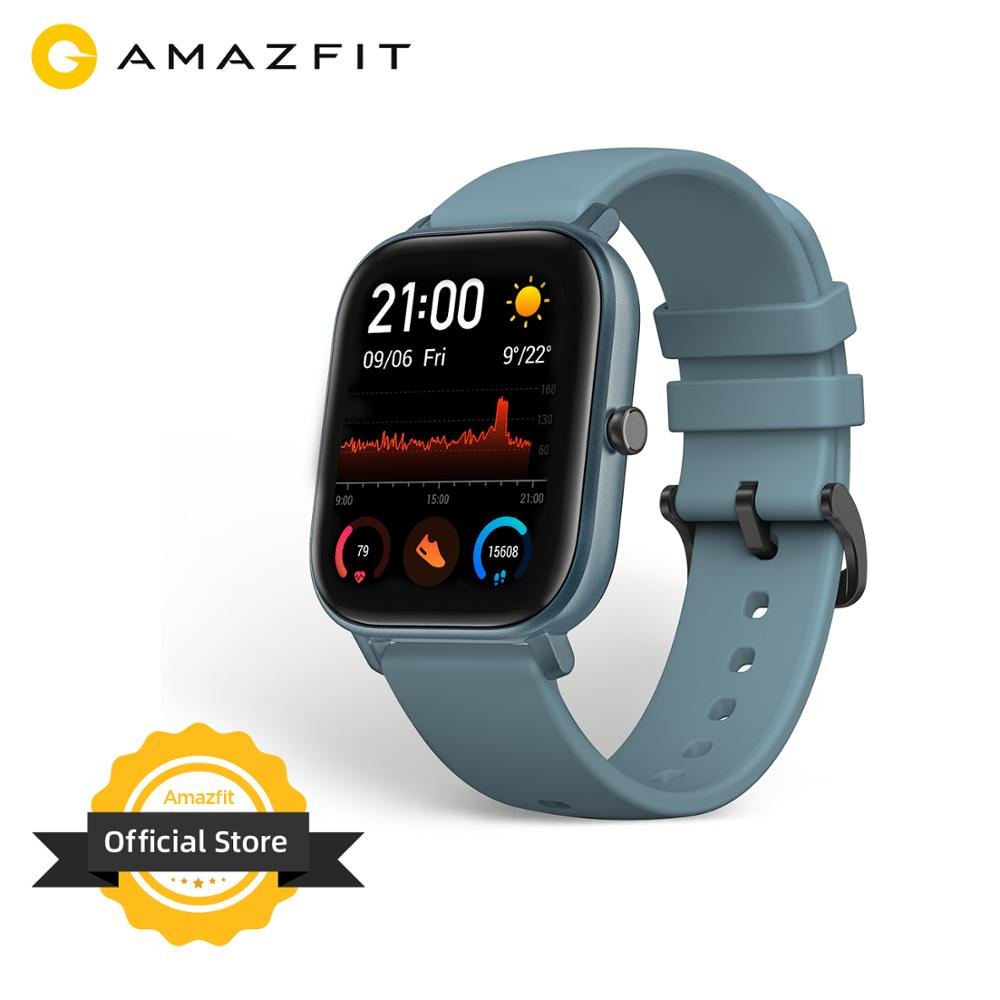 Global Version Amazfit GTS Smart Watch 5ATM Waterproof Swimming Smartwatch NEW 14 Days Battery Music Control For Android Phone