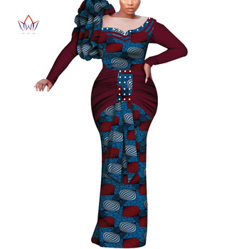 Dashiki African Women Clothing 4xl African long Cotton dresses for women full sleeve Plus Size Robe Bazin Africain dress WY7260