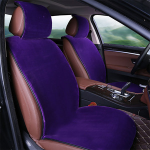 Image 5 - Hot Sale Car Front Seat Plush Covers Faux Fur Car Seat Cover New Universal Plush Car Pad Seat Cover Interior Accessories