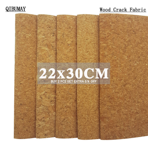 QIBUMAY A4 Size DIY Garment Textile Materials Soft Cork Fabric For Home Sewing Clothes Garment Handbag Synthetic Leather Sheets(China)