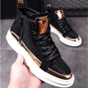 Zapatos informales transpirables para hombre, zapatillas planas de estilo Hip Hop Punk, a la moda, novedad de 2020 1