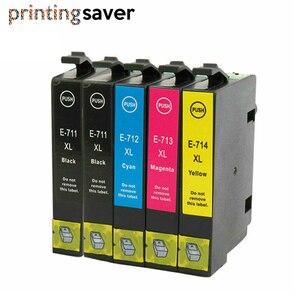 5x T0711 T0712 T0713 T0714 совместимый чернильный картридж для принтера Epson T0715 для D120 D78 D92 DX5000 DX4000 DX4050 DX4400 DX4450 DX8450