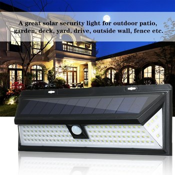 118 LEDs Solar Wall Light Motion Sensor Outdoor Garden Security Floodlight Bright Garden Garden Lawn Lamp IP65 Waterproof 2