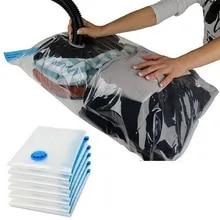 Vacuum-Bag Organizer Storage Package Seal Transparent Clothes Travel Compressed Saving