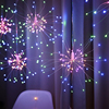 Christmas Garland Fireworks Fairy lights 3M 500LEDs Garland Curtain LED String Light For Xmas new year Bedroom Decor Lighting review