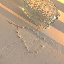 MENGJIQIAO-gargantilla de perlas de agua dulce estilo barroco japonés, collar elegante de cristal, joyería Kolye