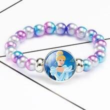 Novos acessórios princesa boneca brinquedos anime pulseira jóias congelado anna elsa moda maquiagem brinquedos crianças dos desenhos animados pulseira