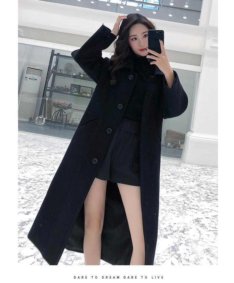 de lã casaco de lã cor lisa casual mulher
