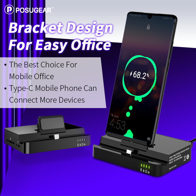 Posugear Type C USB Cable Data Phone Charger Dock Stand Station Charging For Samsung Dex Station Huawei Mate 30 P30 Pro Xiaomi