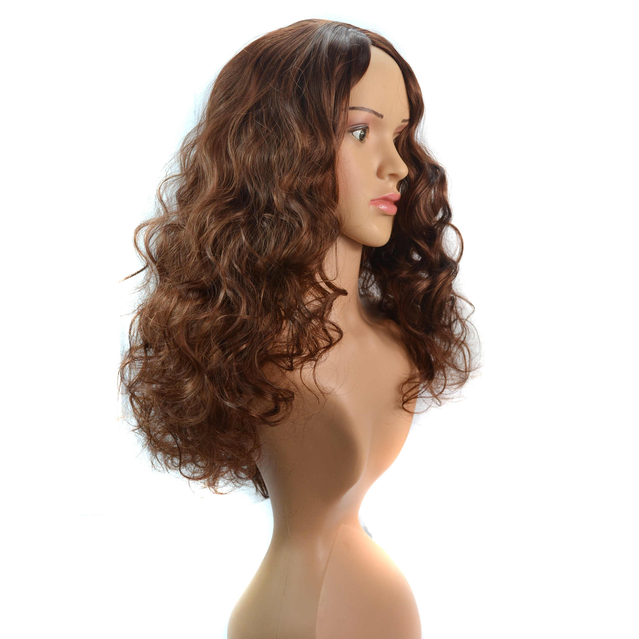 Beiyufei Rambut Sintetis Wig Gelombang Longgar Hitam 38 Inch Ombre Rambut Pirang Gelombang Dalam Super Panjang Bergelombang Sintetis Wig untuk Hitam wanita