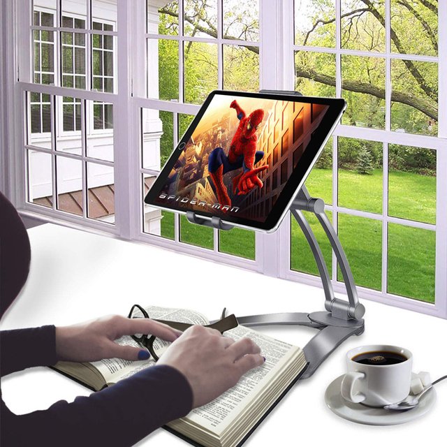 Rotating Portable Monitor Wall Desk Metal Stand Fit For Below 15.6inch monitor Tablet Mobile Phone Holders 4