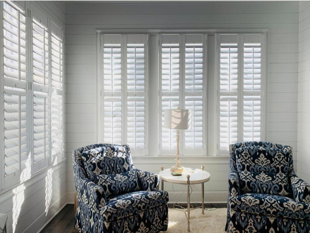 Custom Basswood Plantation Shutters  Wooden Blinds Solid Wood Shutter Louver PS216