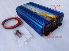 النسخة الجديدة الطاقة الكاملة 2500 واط DC12V/24 فولت/36 فولت/48 فولت/60 فولت/72 فولت إلى AC110V/220 فولت نقية شرط موجة العاكس مع اثنين الجهد شاشة ديجيتال