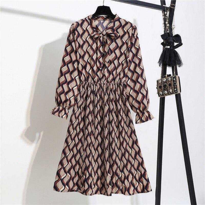 Новинка, весенне-летнее женское платье с эластичной талией, винтажное шифоновое плиссированное платье желтого и черного цвета с цветочным ...