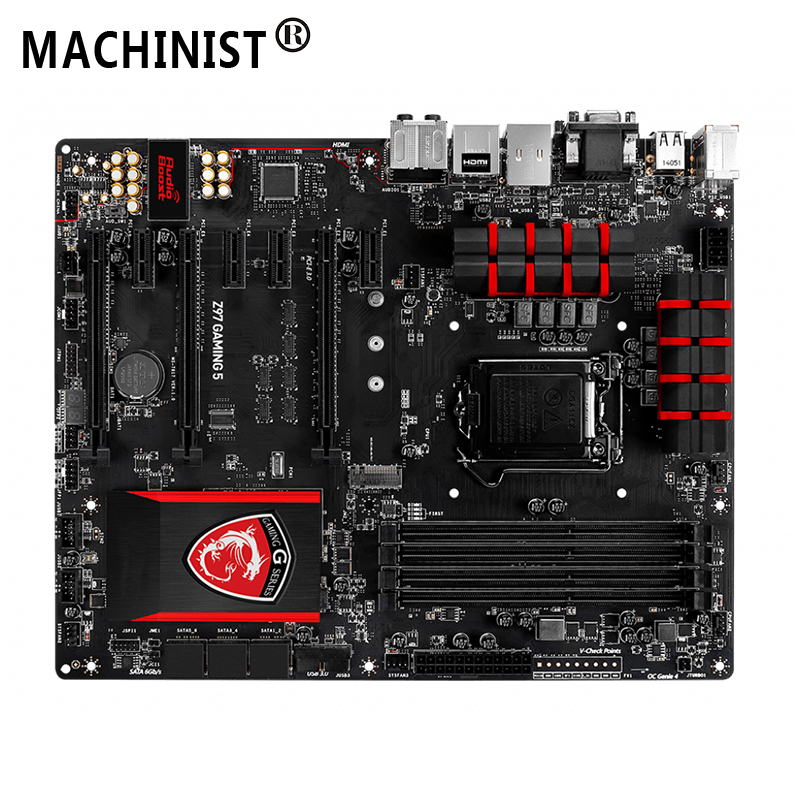 For MSI Z97 GAMING 5 Desktop motherboard Intel Z97 LGA 1150 ATX DDR3 32GB SATA3.0 USB3.0 PCI-E 3.0 100% fully Tested