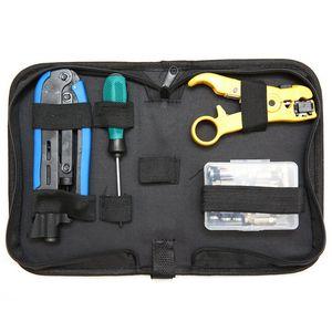 Коаксиальный кабель комплект для обжима, инструмент сжатия коаксиальный кабель комплект для обжима, регулируемый Rg6 Rg59 Rg11 75-5 75-7 инструмент ...