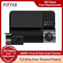 70mai A800/A800S Traço Camera 4K resolução HD Sony IMX415 GPS Built-In 24H Estacionamento DVR разрешением 4K