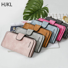 Leather Women Wallets Coin Pocket Hasp Card Holder Money Bags Casual Long Ladies Clutch Phone Wallet Short Purse 2019 New